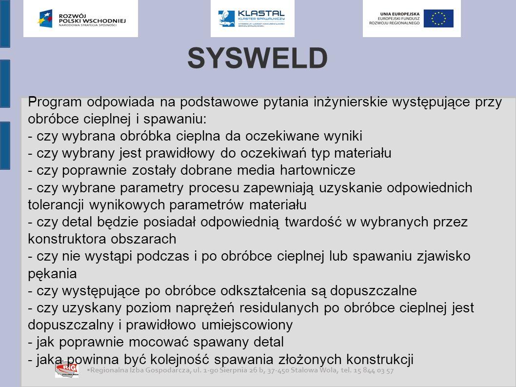 SYSWELD Program odpowiada na podstawowe pytania inżynierskie występujące przy obróbce cieplnej i spawaniu: