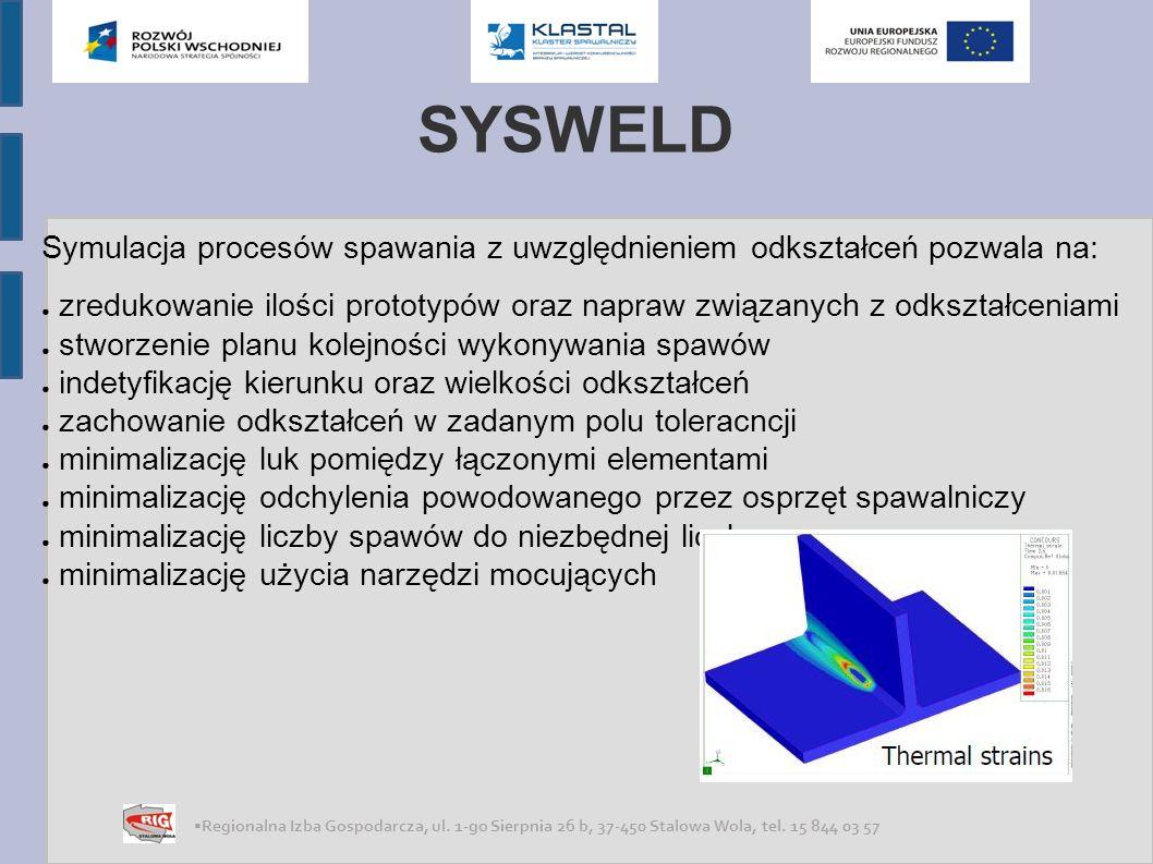 SYSWELD Symulacja procesów spawania z uwzględnieniem odkształceń pozwala na: zredukowanie ilości prototypów oraz napraw związanych z odkształceniami.