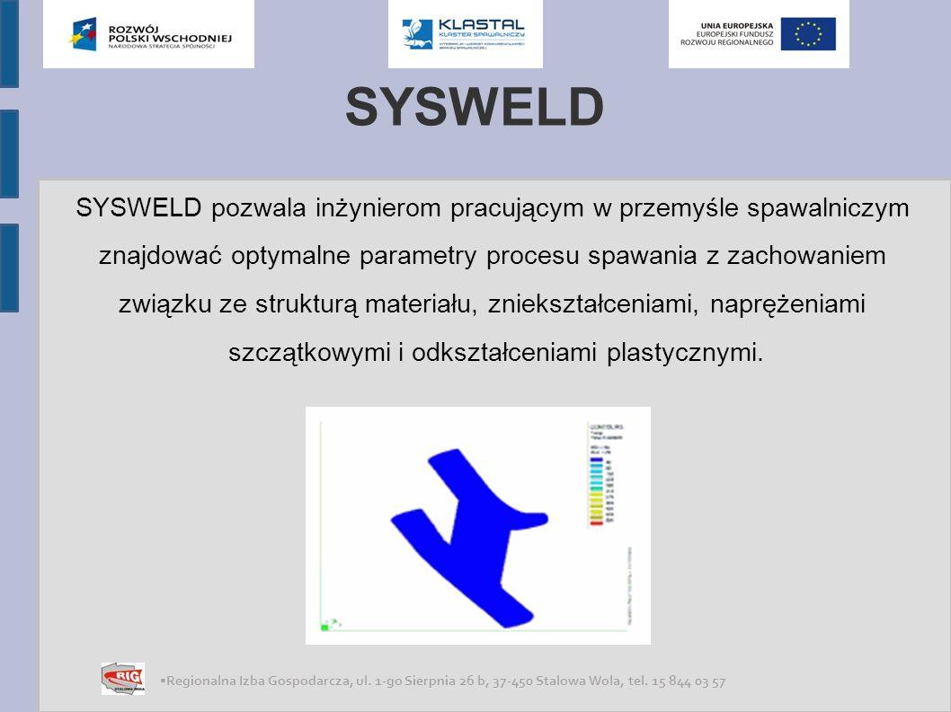 SYSWELD SYSWELD pozwala inżynierom pracującym w przemyśle spawalniczym