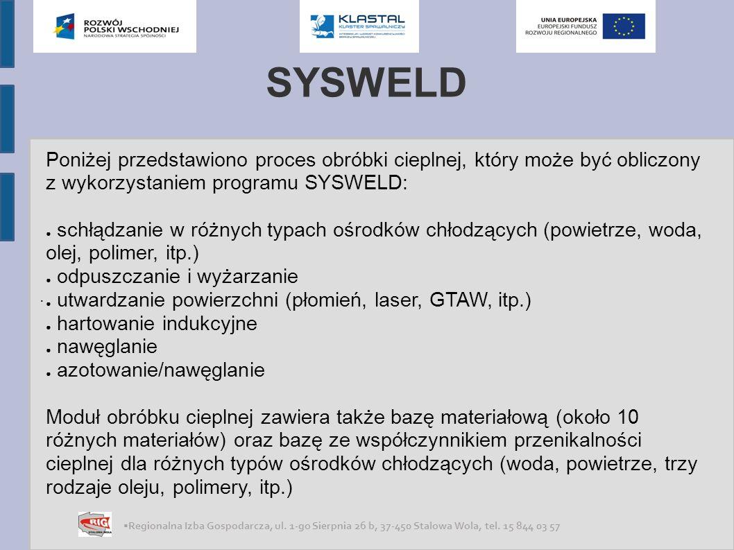 SYSWELD . Poniżej przedstawiono proces obróbki cieplnej, który może być obliczony z wykorzystaniem programu SYSWELD: