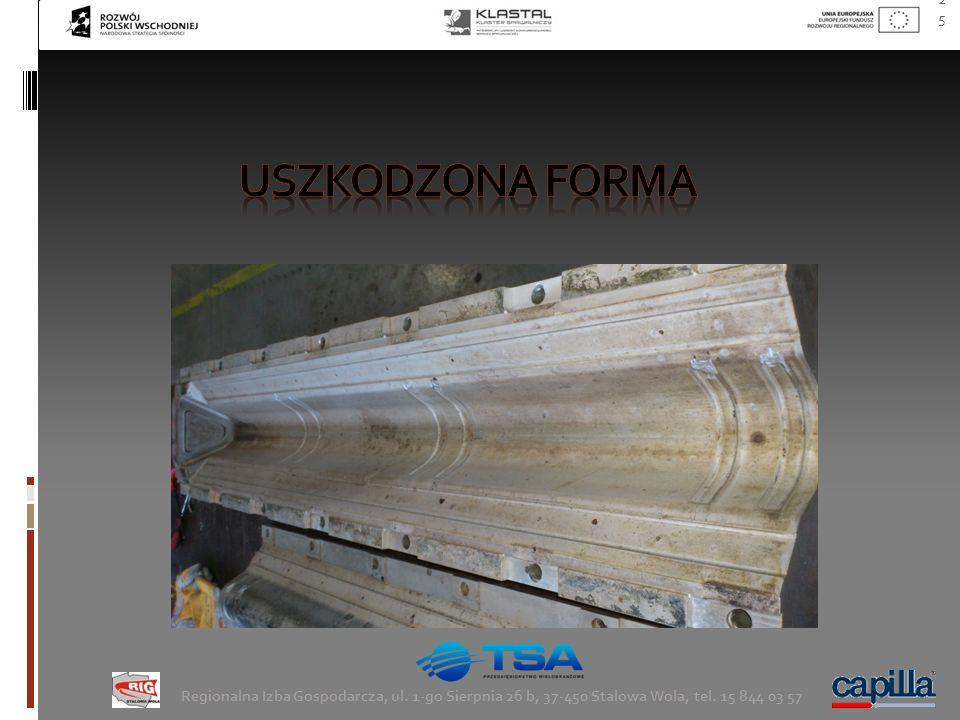 Uszkodzona forma Regionalna Izba Gospodarcza, ul. 1-go Sierpnia 26 b, 37-450 Stalowa Wola, tel.