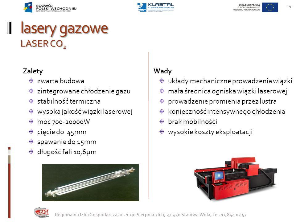 lasery gazowe LASER CO2 Zalety zwarta budowa