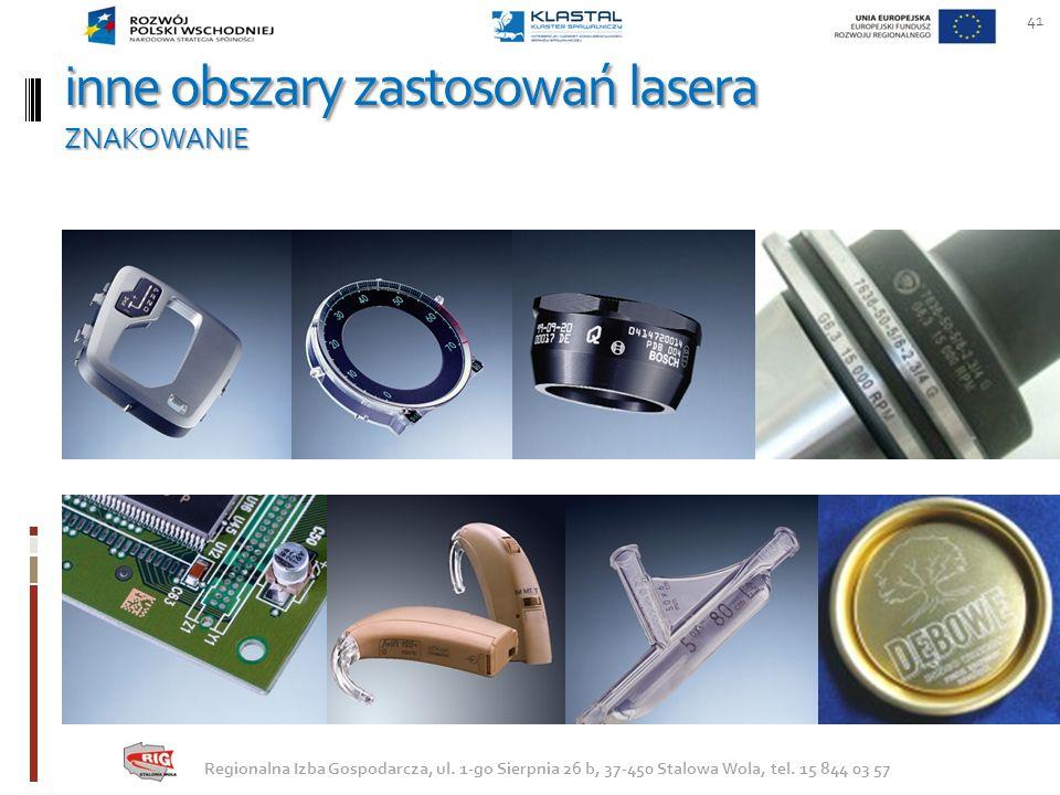 inne obszary zastosowań lasera ZNAKOWANIE