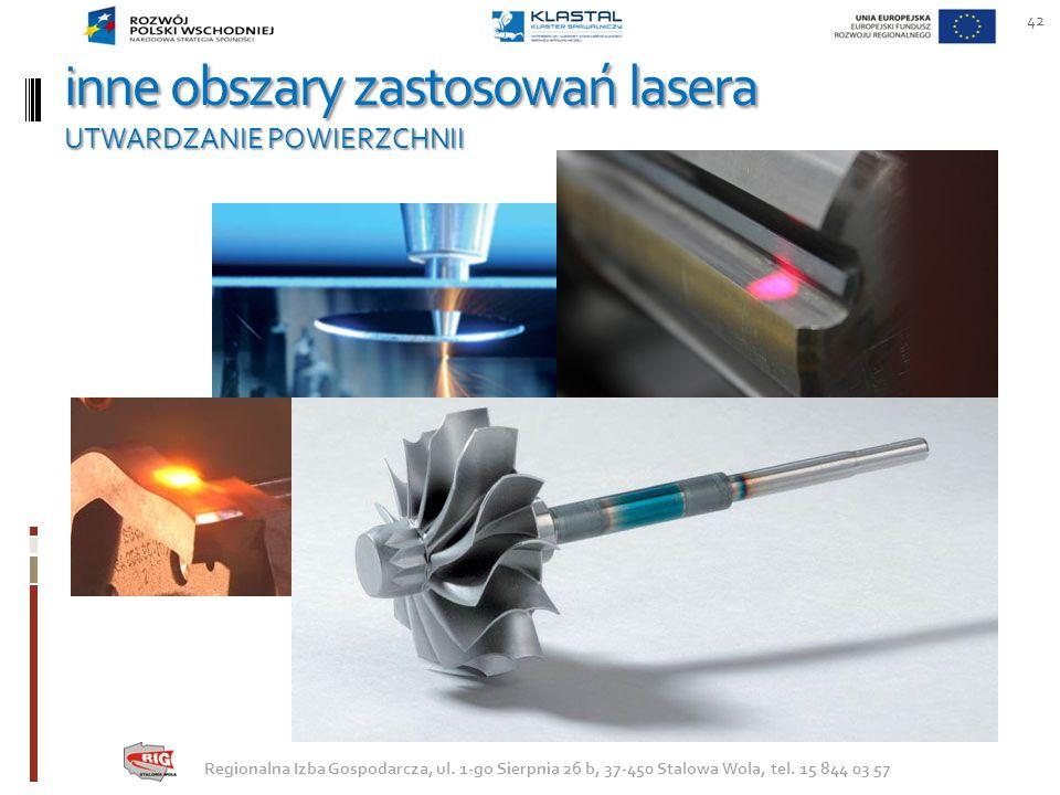 inne obszary zastosowań lasera UTWARDZANIE POWIERZCHNII