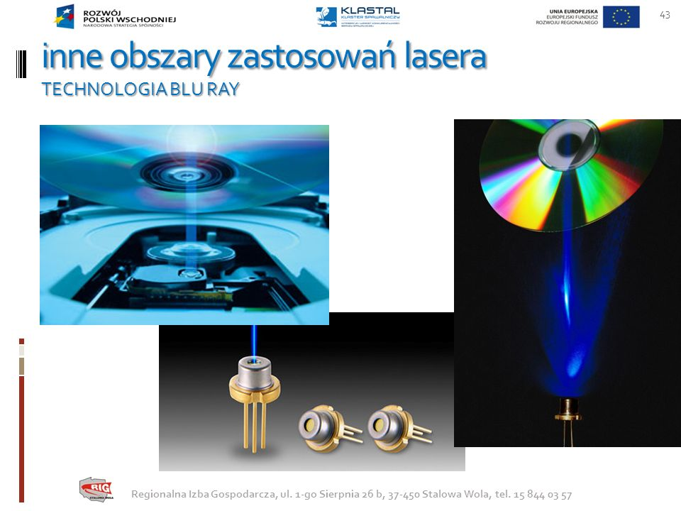 inne obszary zastosowań lasera TECHNOLOGIA BLU RAY