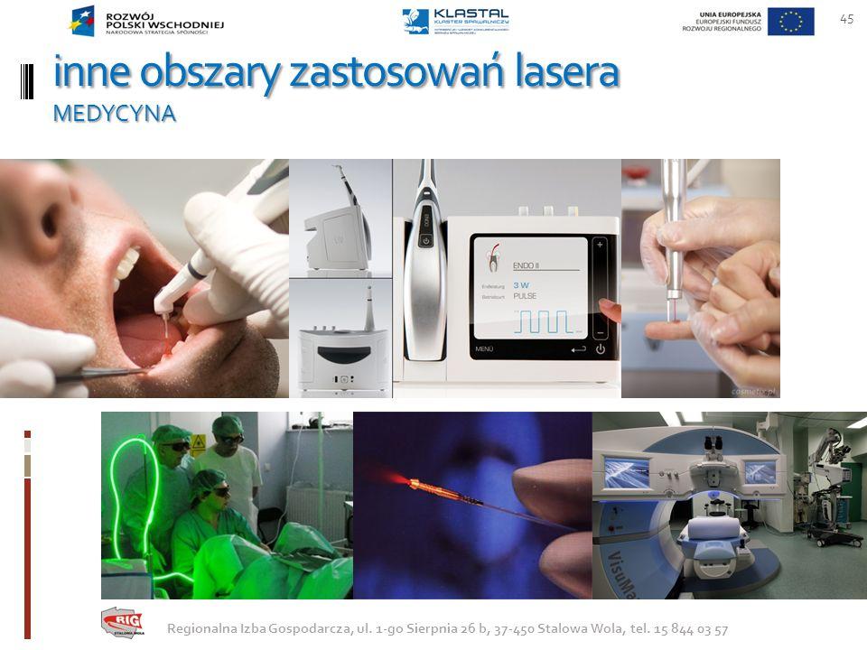 inne obszary zastosowań lasera MEDYCYNA