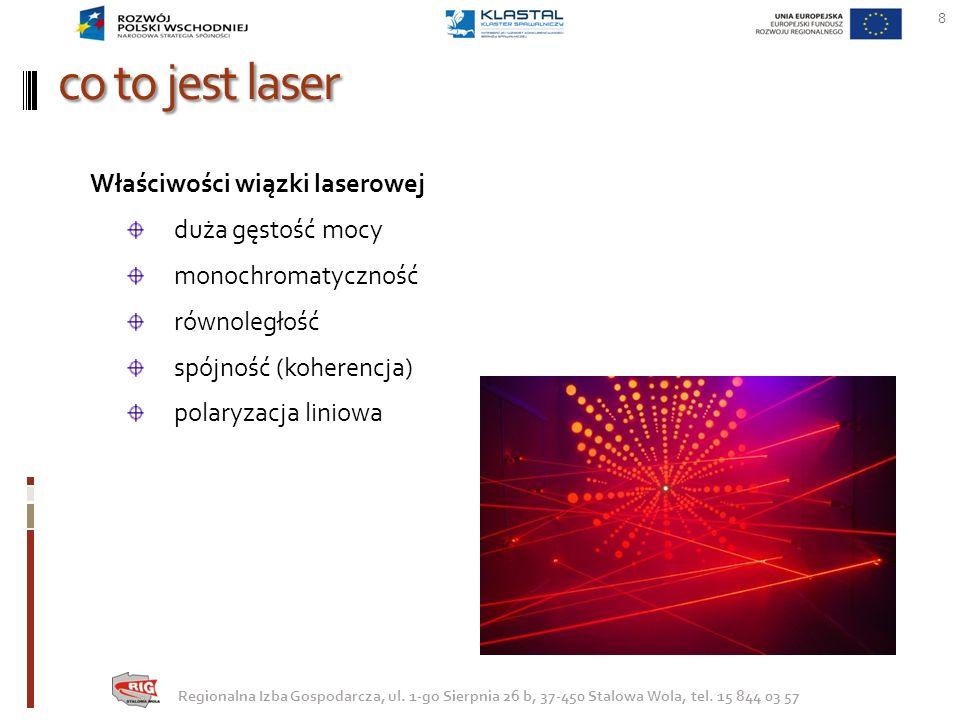 co to jest laser Właściwości wiązki laserowej duża gęstość mocy