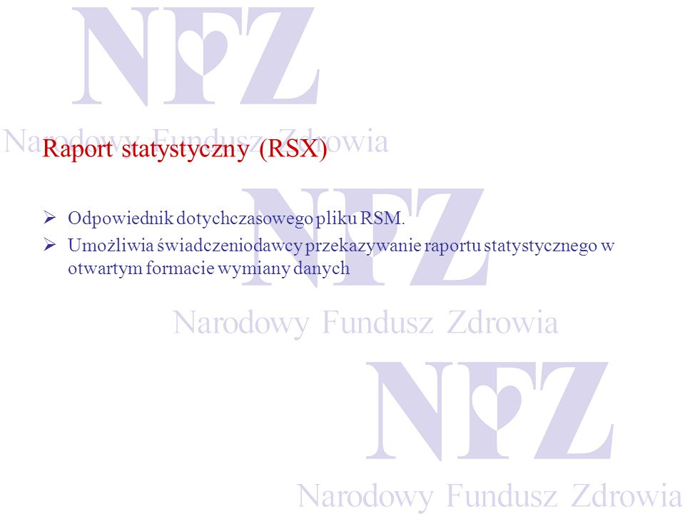 Raport statystyczny (RSX)