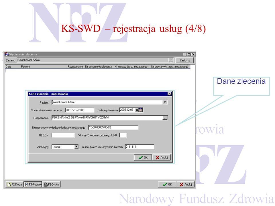 KS-SWD – rejestracja usług (4/8)