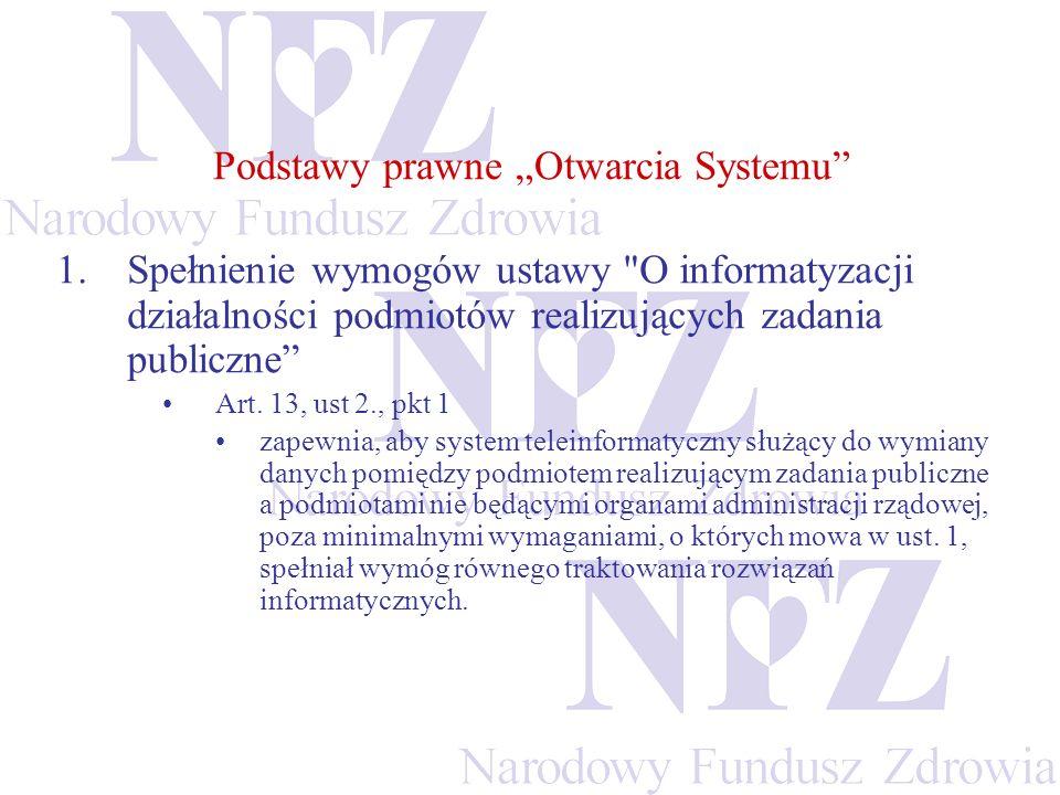 """Podstawy prawne """"Otwarcia Systemu"""