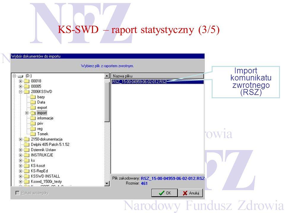 Import komunikatu zwrotnego (RSZ)