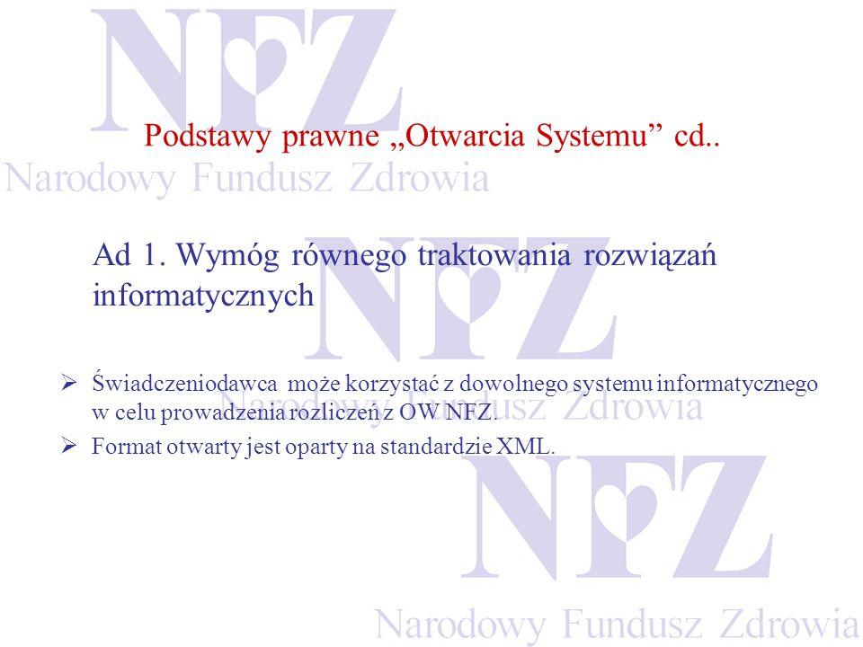 """Podstawy prawne """"Otwarcia Systemu cd.."""