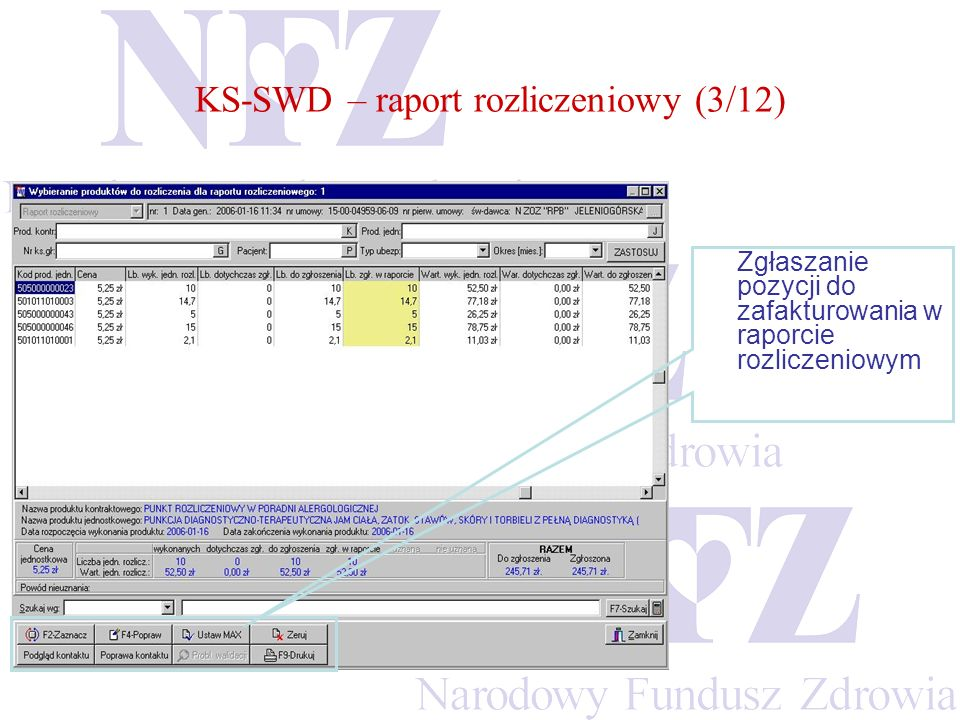 KS-SWD – raport rozliczeniowy (3/12)