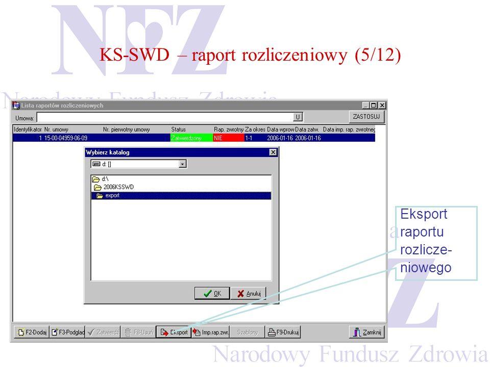 KS-SWD – raport rozliczeniowy (5/12)