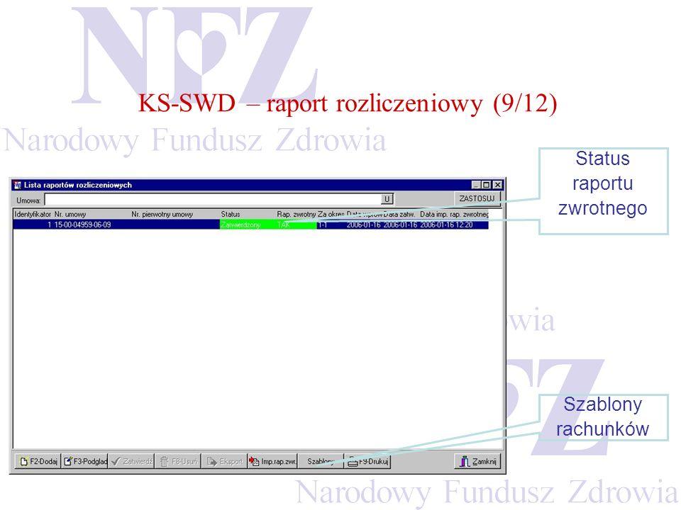 KS-SWD – raport rozliczeniowy (9/12)
