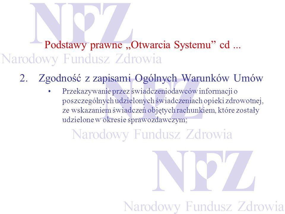 """Podstawy prawne """"Otwarcia Systemu cd ..."""