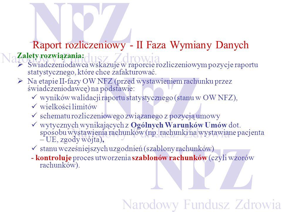 Raport rozliczeniowy - II Faza Wymiany Danych
