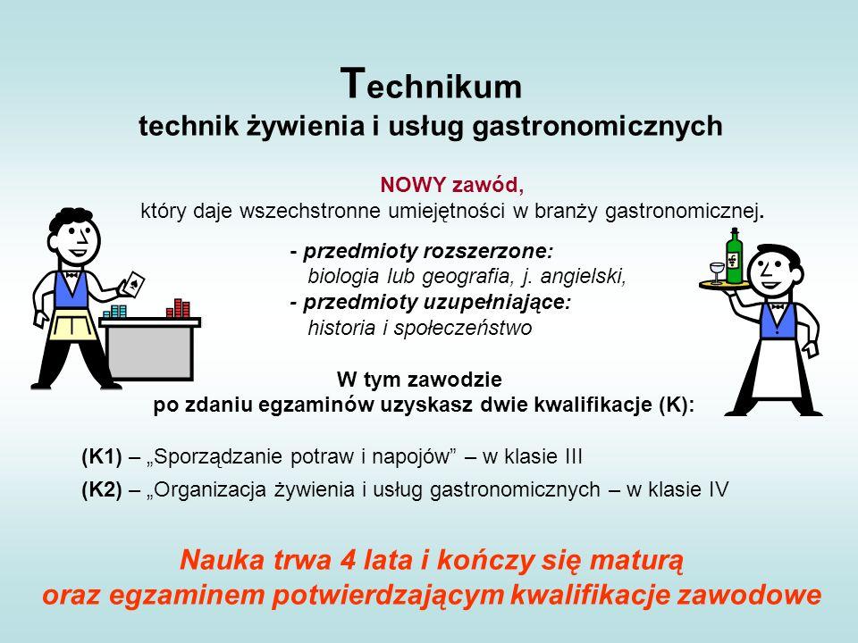 Technikum technik żywienia i usług gastronomicznych
