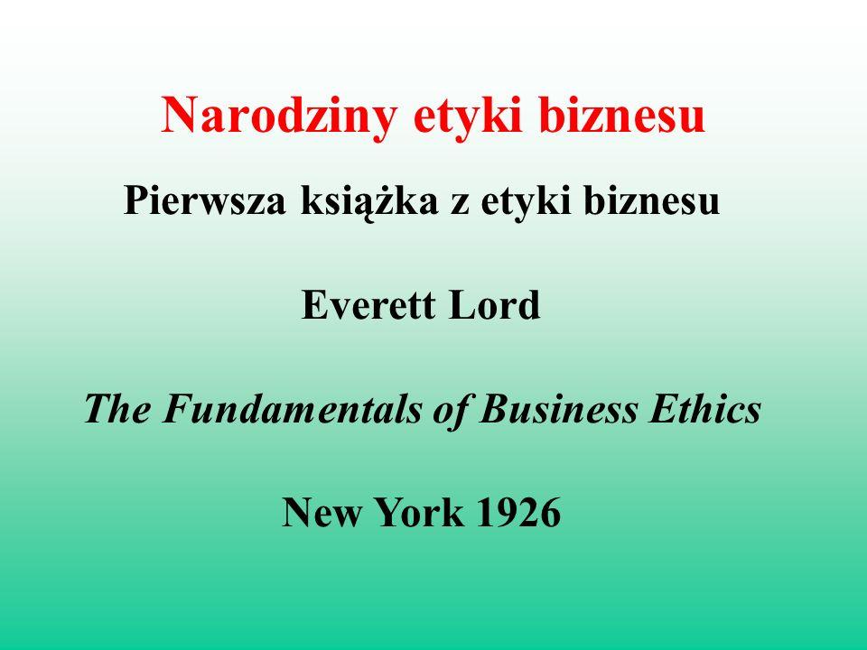 Narodziny etyki biznesu