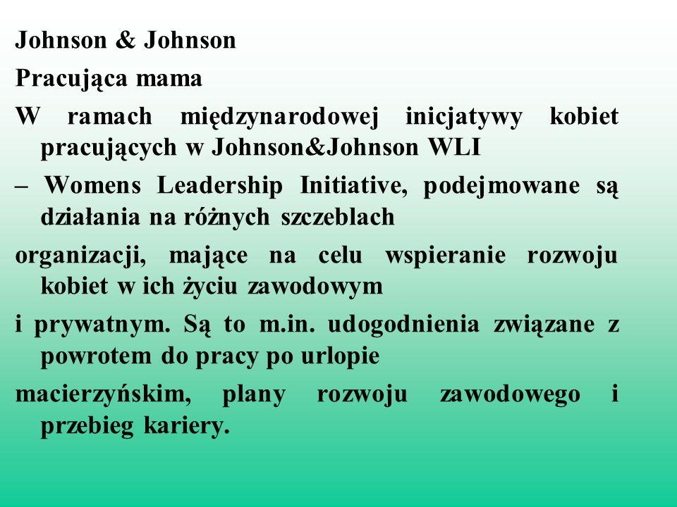 Johnson & Johnson Pracująca mama. W ramach międzynarodowej inicjatywy kobiet pracujących w Johnson&Johnson WLI.