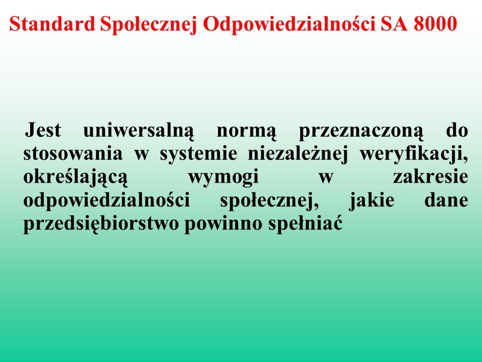 Standard Społecznej Odpowiedzialności SA 8000