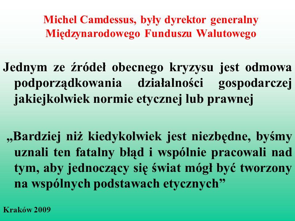 Michel Camdessus, były dyrektor generalny Międzynarodowego Funduszu Walutowego