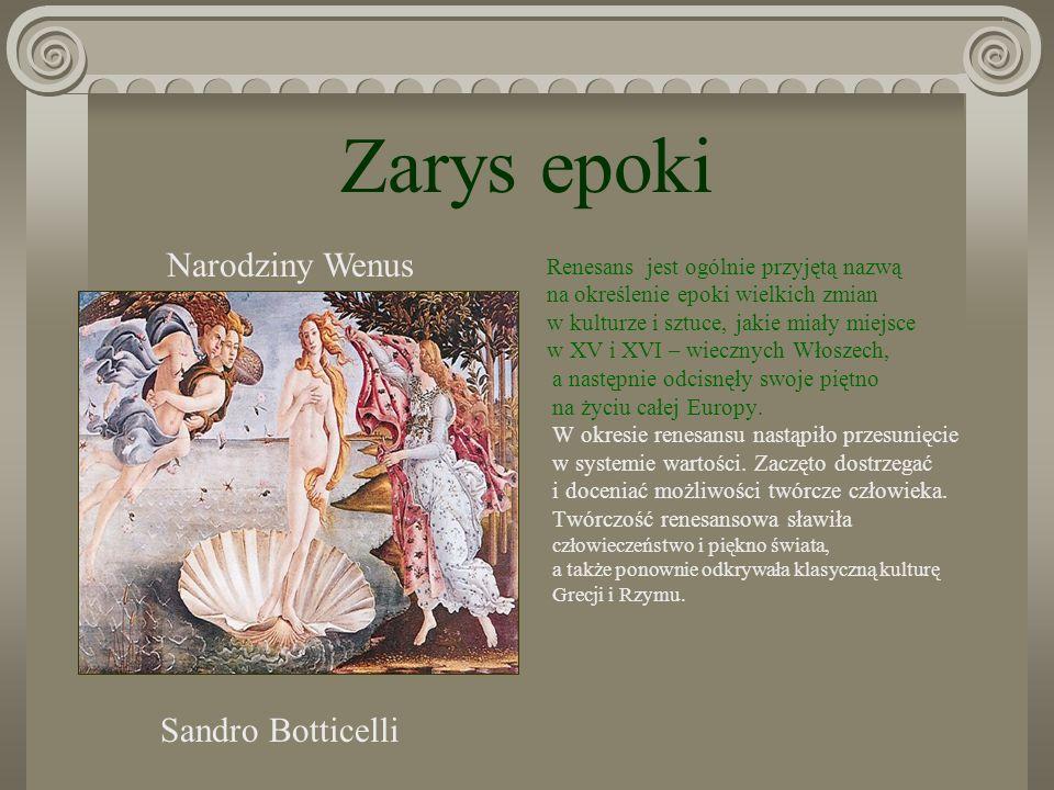 Zarys epoki Narodziny Wenus Sandro Botticelli