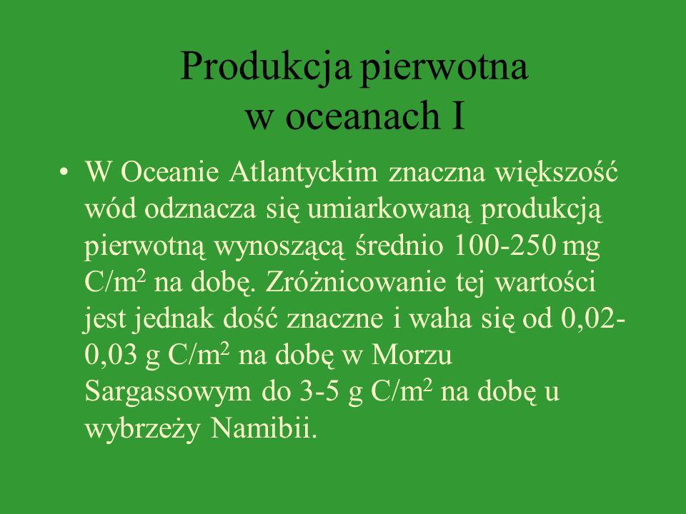 Produkcja pierwotna w oceanach I