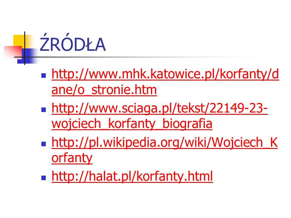 ŹRÓDŁA http://www.mhk.katowice.pl/korfanty/dane/o_stronie.htm