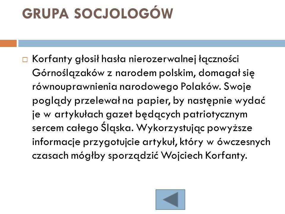 GRUPA SOCJOLOGÓW