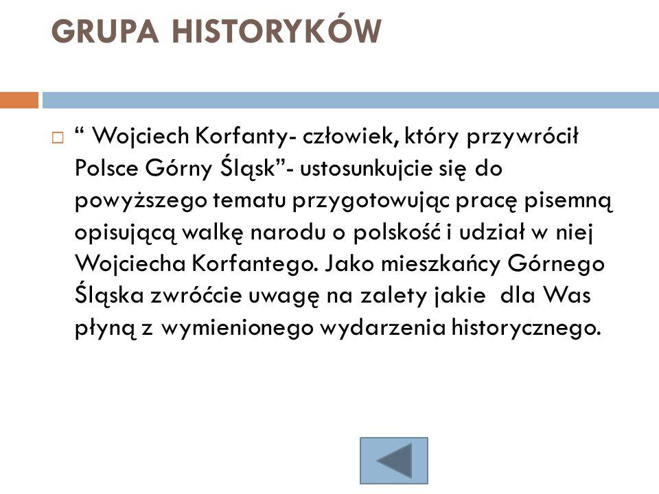 GRUPA HISTORYKÓW