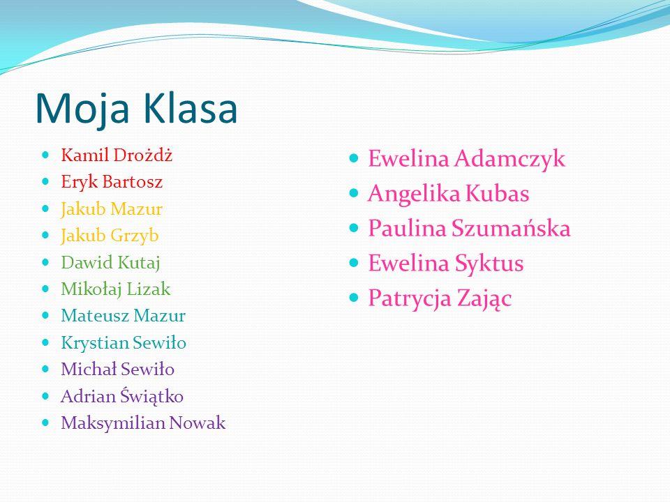 Moja Klasa Ewelina Adamczyk Angelika Kubas Paulina Szumańska