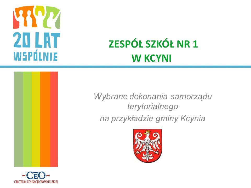Wybrane dokonania samorządu terytorialnego na przykładzie gminy Kcynia