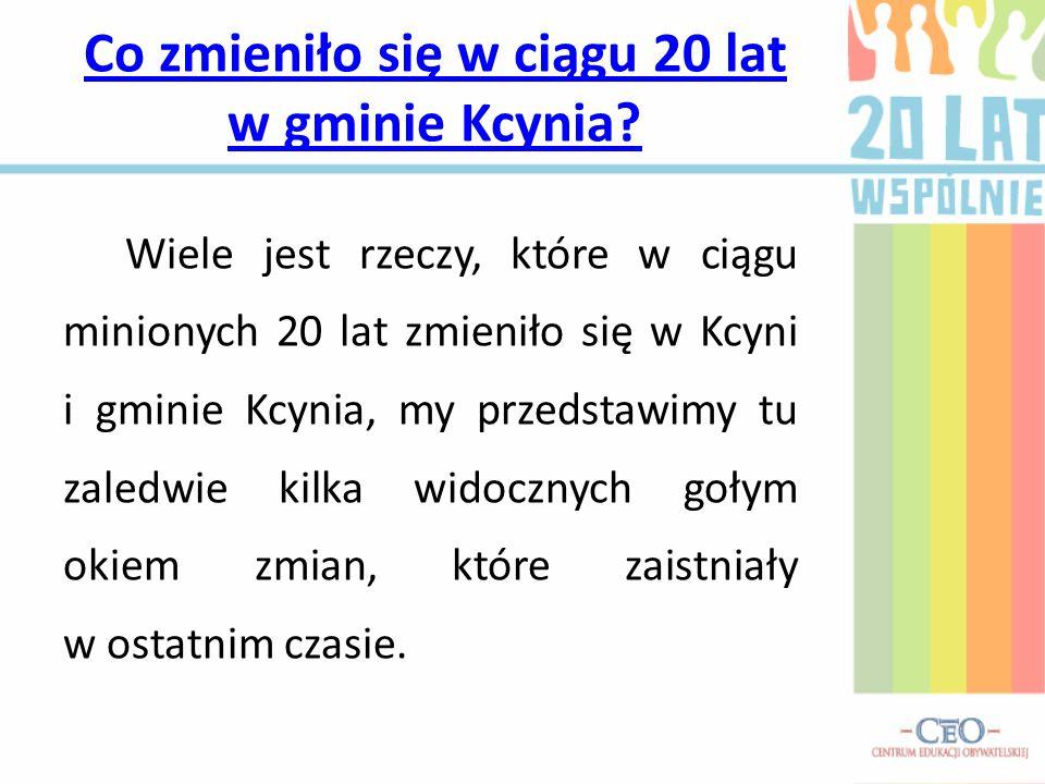 Co zmieniło się w ciągu 20 lat w gminie Kcynia