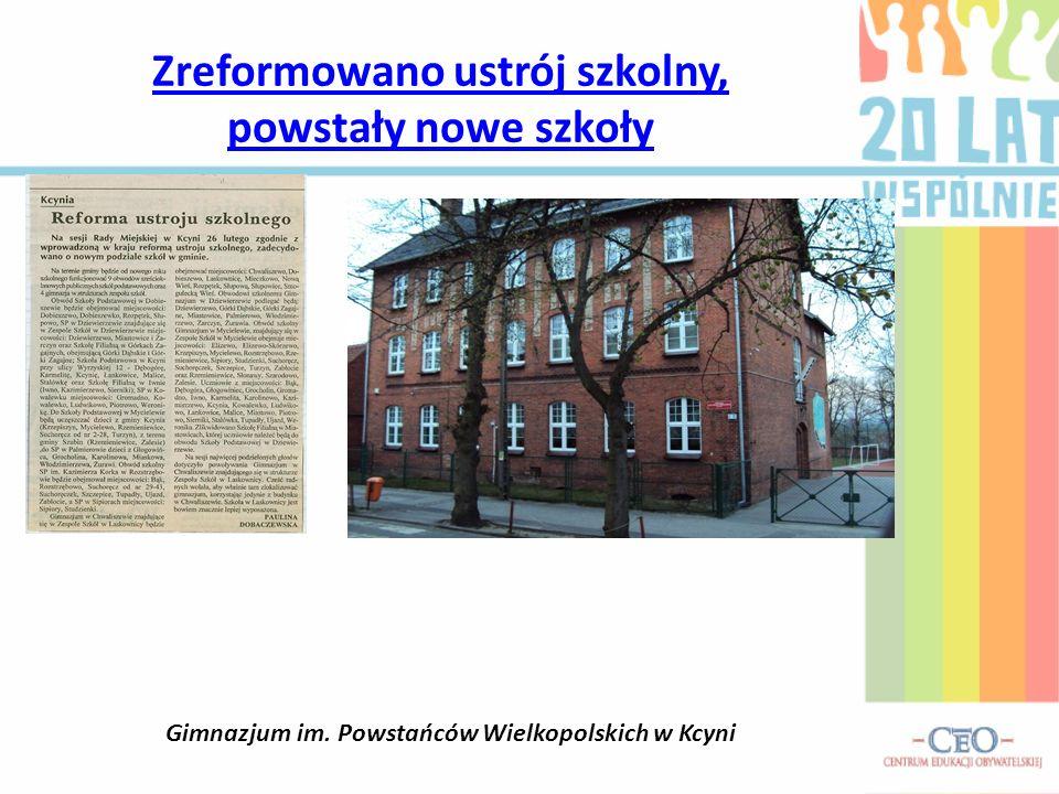 Zreformowano ustrój szkolny, powstały nowe szkoły