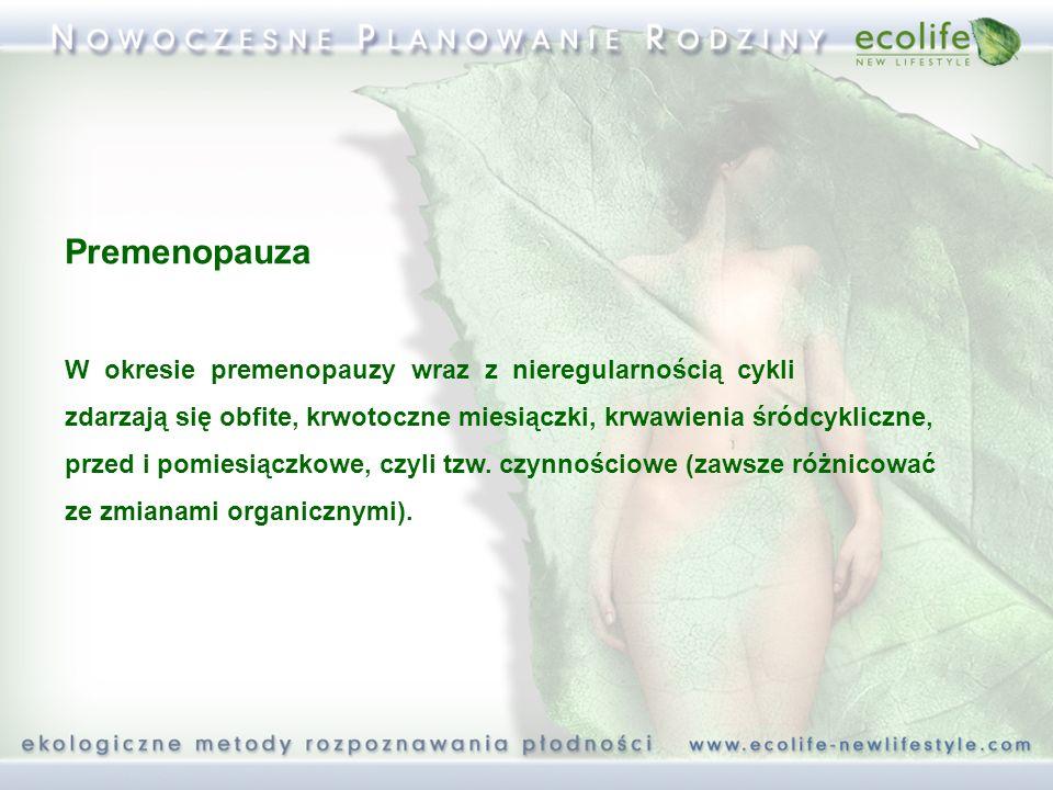 Premenopauza W okresie premenopauzy wraz z nieregularnością cykli