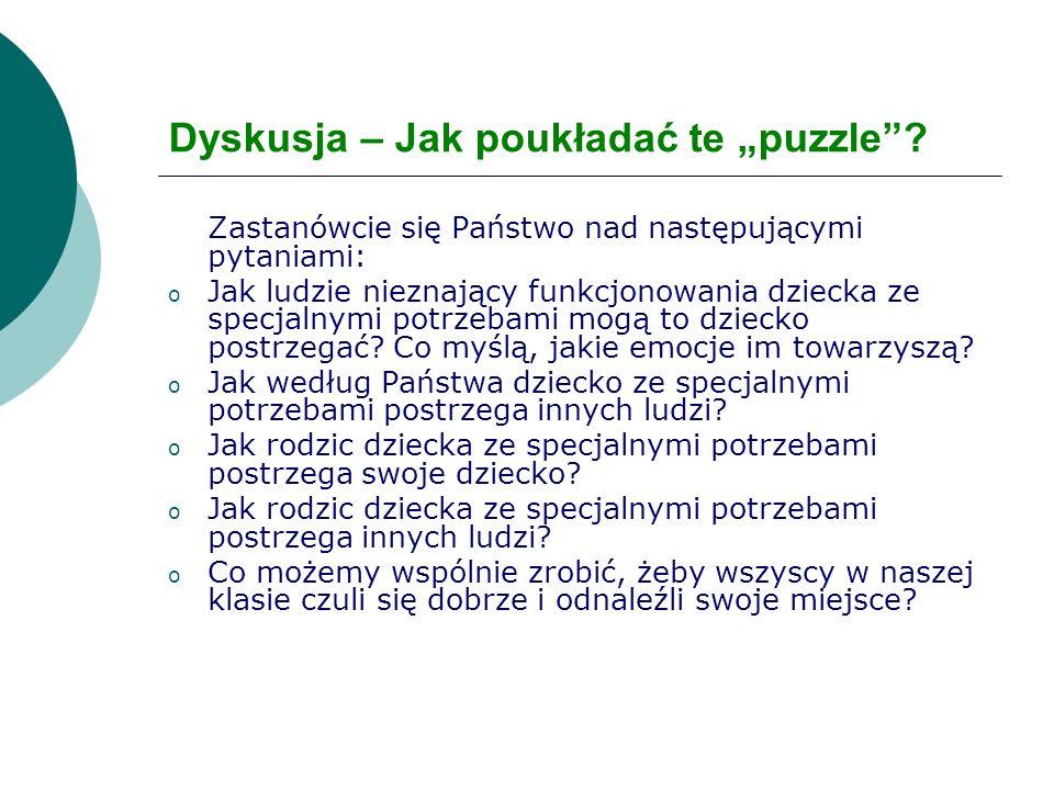 """Dyskusja – Jak poukładać te """"puzzle"""
