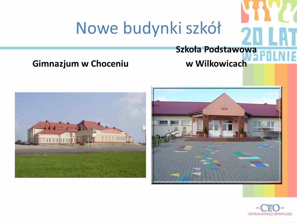 Nowe budynki szkół Szkoła Podstawowa w Wilkowicach