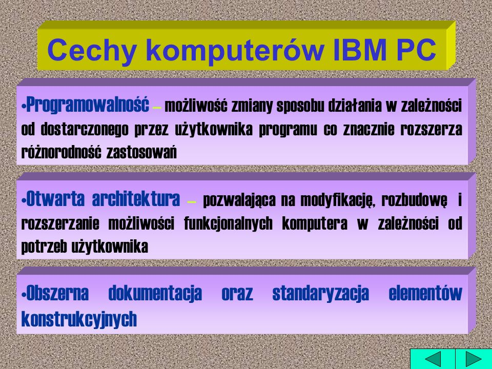 Cechy komputerów IBM PC