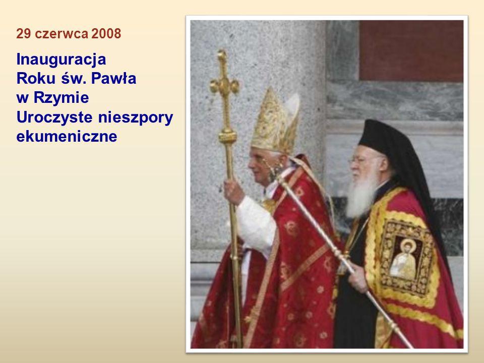 Inauguracja Roku św. Pawła w Rzymie Uroczyste nieszpory ekumeniczne