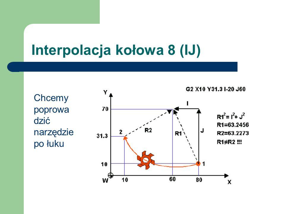 Interpolacja kołowa 8 (IJ)