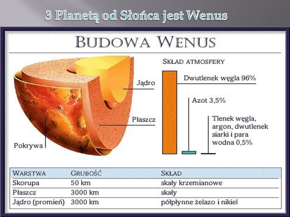 3 Planetą od Słońca jest Wenus