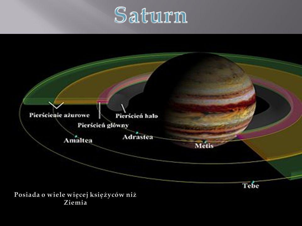Posiada o wiele więcej księżyców niż Ziemia