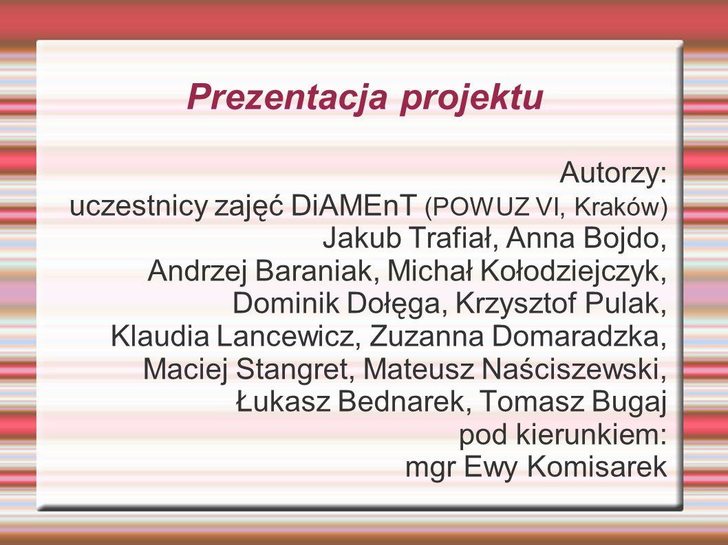 Prezentacja projektu Autorzy: