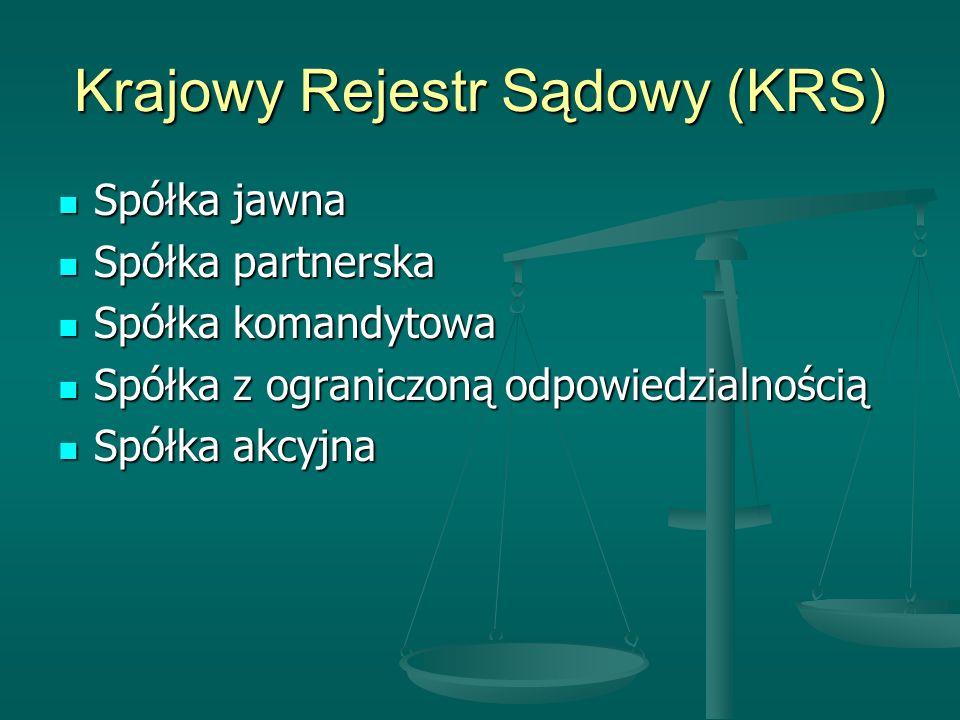 Krajowy Rejestr Sądowy (KRS)