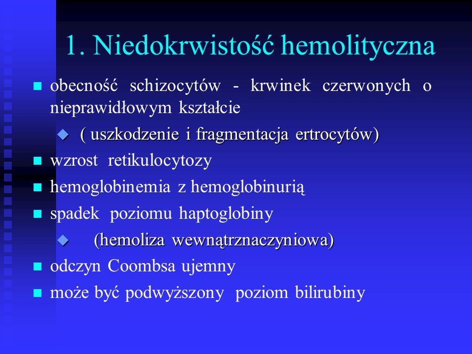 1. Niedokrwistość hemolityczna