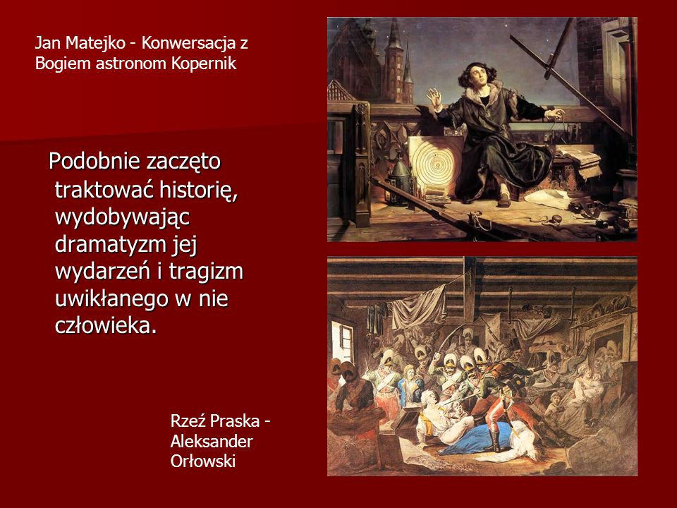 Jan Matejko - Konwersacja z Bogiem astronom Kopernik