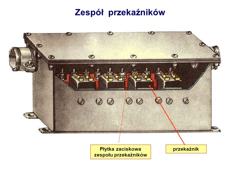 Zespół przekaźników Płytka zaciskowa zespołu przekaźników przekaźnik