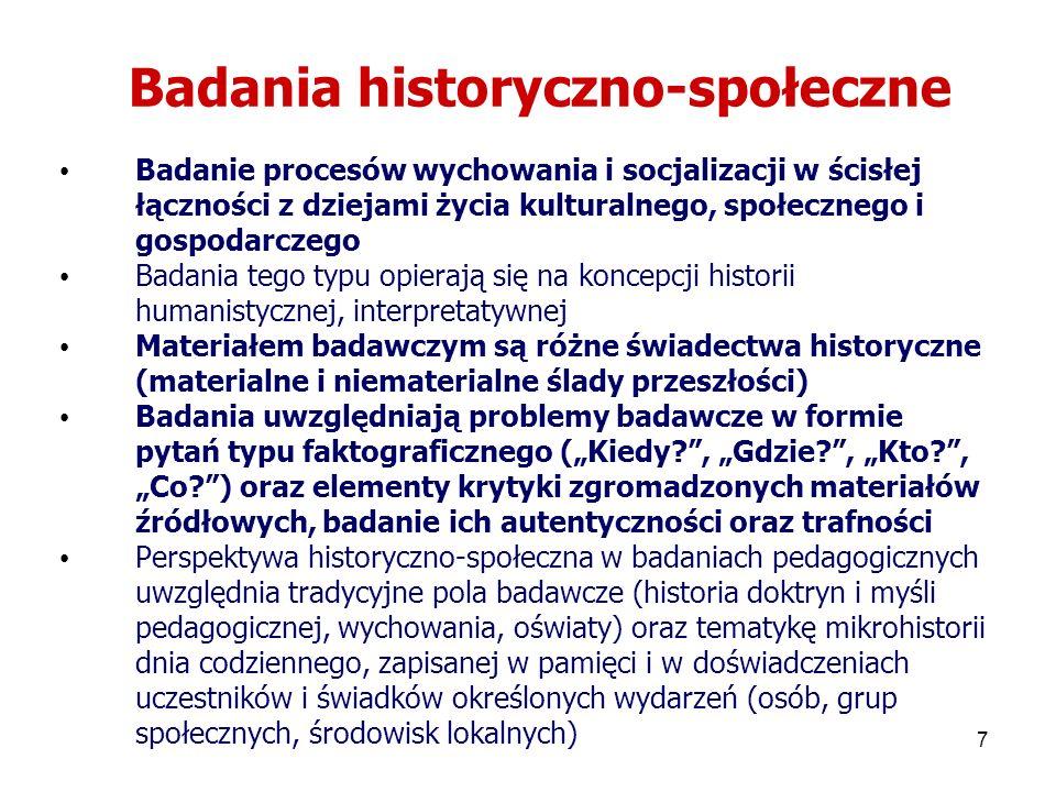 Badania historyczno-społeczne
