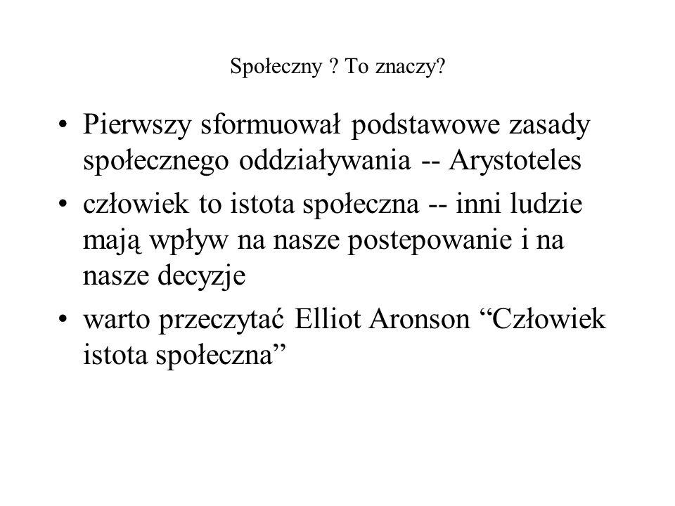 warto przeczytać Elliot Aronson Człowiek istota społeczna